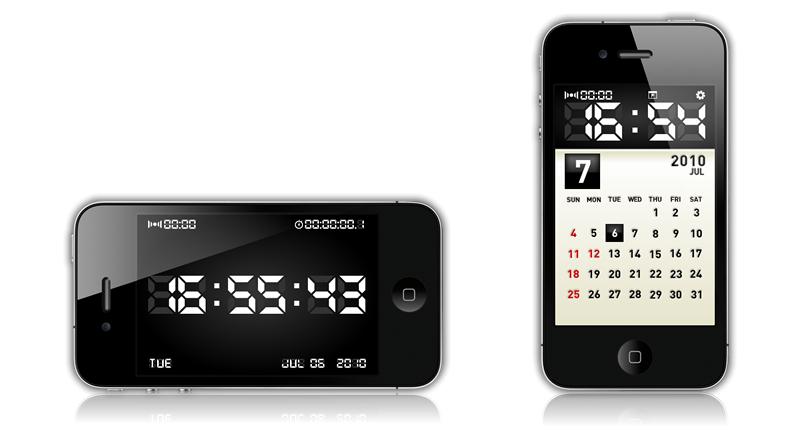 """""""Clock Simply""""は、カレンダーやアラーム、時刻補正機能など備えた時計アプリケーションです。"""